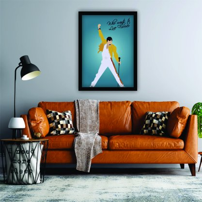 Quadro Decorativo Fred Mercury - Who Wants To Live Forever
