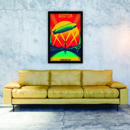 Quadro Decorativo Led Zeppelin Celebration Day