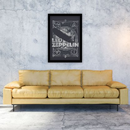 Quadro Decorativo Led Zeppelin Vintage