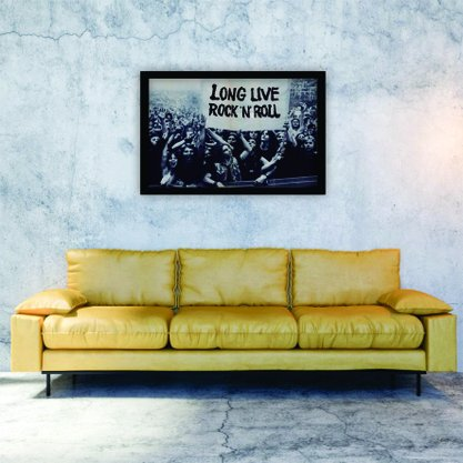 Quadro Decorativo Long Live Rock'n' Roll