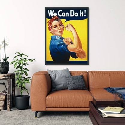 Quadro Decorativo Mulher We Can Do It!