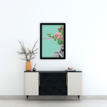 Quadro Decorativo Woman With Flowers